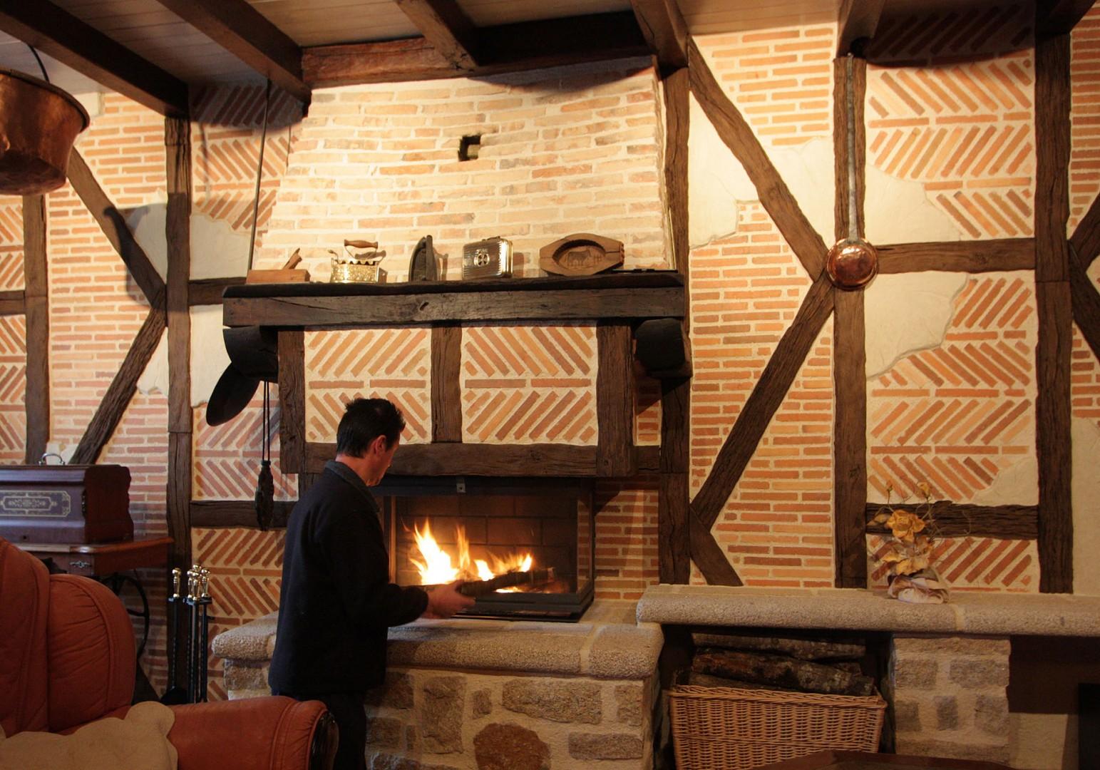 Briquette de cheminée
